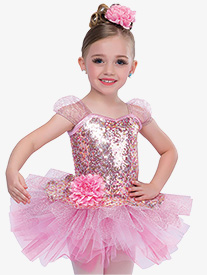 Girls Find Your Melody Performance Dance Costume Sequin Tutu Dress
