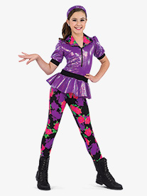 Girls Hold The Drama Floral 2-Piece Dance Costume Set