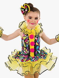 Girls Send In The Clowns Character Dance Tutu Dress