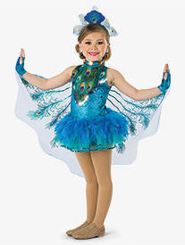 Girls Shake A Tail Feather Character Dance Tutu Dress