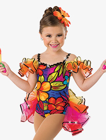 Girls Tiki Room Character Dance Bustled Leotard