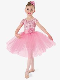 Girls Performance One Small Thing Short Sleeve Tutu Dress