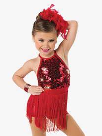 Girls Be Awesome Sequin Performance Shorty Unitard