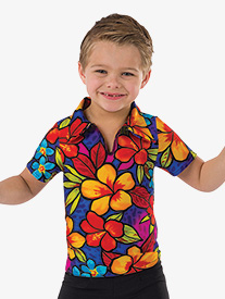 Boys Tiki Room Performance Short Sleeve Top
