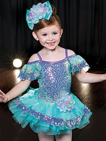 Girls Fly Like A Butterfly Dance Costume Tutu Dress