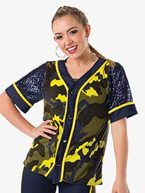 Womens Im Out Hip Hop Dance Costume Jersey Top
