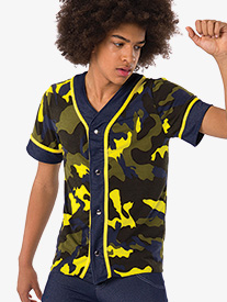 Mens Im Out Performance Camo Print Jersey Top