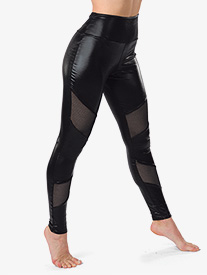 Girls Imma Be Faux Leather Performance Leggings