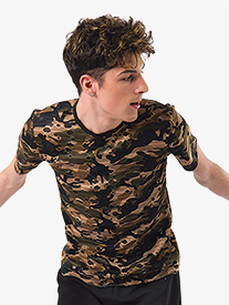 Mens Imma Be Camo Print Performance Top