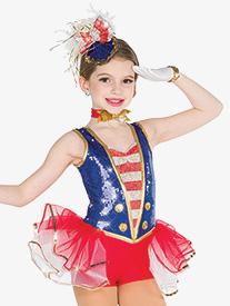 Girls Doodle Dandy Character Dance Bustled Shorty Unitard