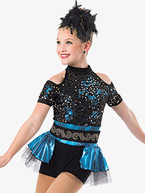 Girls Trouble Dance Costume Shorty Unitard