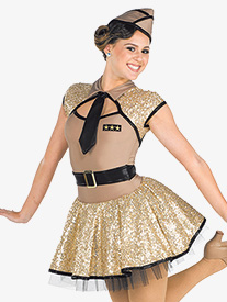 Womens Taps Character Dance Costume Tutu Dress
