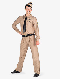 Mens Taps Character Dance Costume Unitard