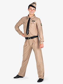 Boys Taps Character Dance Costume Unitard