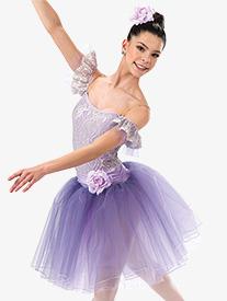 Girls Reverie Lace Ballet Performance Tutu Dress