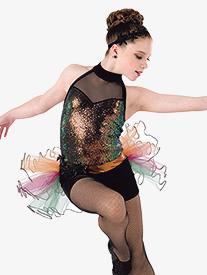 Womens Rock Your Soul Dance Performance Shorty Unitard