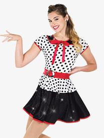 Womens Rockin Robin Polka Dot Character Dance Dress