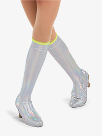 Girls Martian Holographic Performance Boot Covers