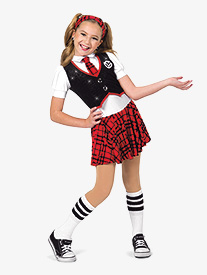 Womens Schools Out Plaid Character Dance Dress