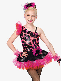 Girls Jungle Rhythm Leopard Print Performance Tutu Dress