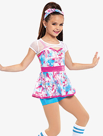 Womens Goosebumps Splatter Dance Performance 3-Piece Set