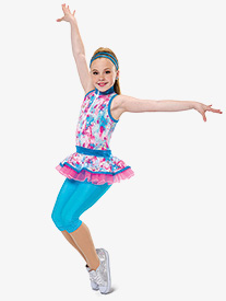 Girls Music To My Ears Splatter Dance Performance Unitard