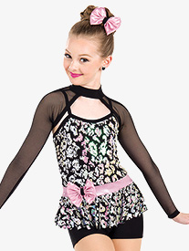 Womens Hello Sequin Dance Performance 3-Piece Set
