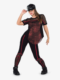 Womens Walk It Out Metallic Hip Hop Performance Set