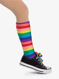 Girls Rainbow Rocks Character Performance Multicolor Socks