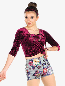 Girls From The Block Floral Print Dance Performance Set