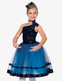Womens Remember Me Asymmetrical Ballet Performance Tutu Dress