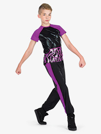 Boys Dangerous Wavy Sequin 2-Piece Performance Dance Set