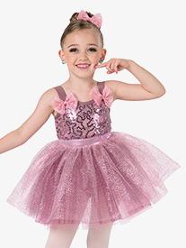 da439f4a38894 Girls Tutu Time Metallic Ballet Performance Tutu Dress