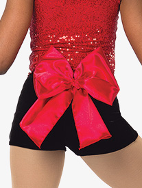Girls Great White Way Satin Bow Dance Performance Shorts