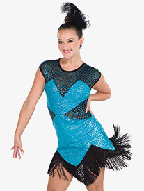 Girls Stop Me Know Sequin Dance Performance Dress