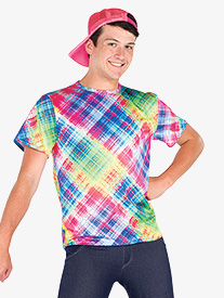 Mens Drippin Finesse Rainbow Plaid Performance Top