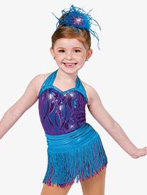 Girls Better Together Two-Tone Dance Performance Fringe Skirt