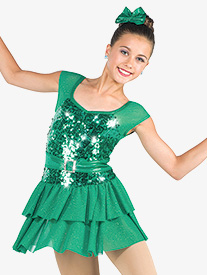 Girls They Dont Know Glitter Mesh Dance Performance Dress