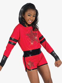 Womens Trouble On My Mind Hip Hop Performance Shorty Unitard