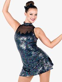 Girls Good For You Iridescent Performance Halter Dress