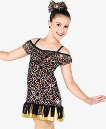 Girls Set It Off Geometric Sequin Performance Dress