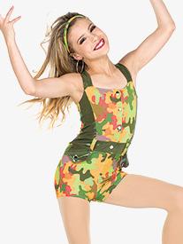Womens Intense Camouflage Performance Shorty Unitard