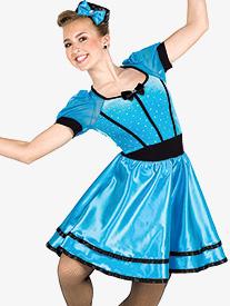 Girls Swing Time Short Sleeve Performance Dress