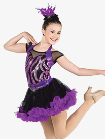Womens Bound To You Wavy Sequin Dance Performance Dress