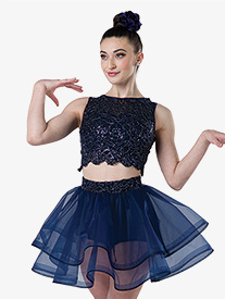 Womens For My Health 2-Piece Dance Costume Set