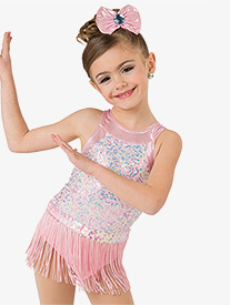 Girls Sweet & Sassy Sequin Tank Performance Leotard