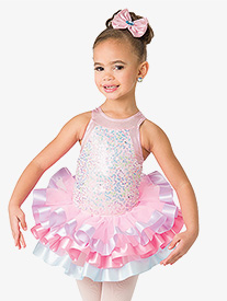 Girls Sweet & Sassy Layered Performance Tutu Skirt