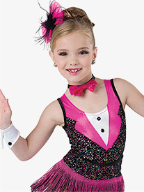 Girls Happy Feet Tank Performance Leotard
