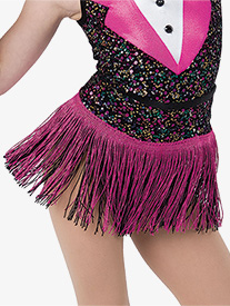 Girls Happy Feet Fringe Performance Skirt