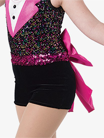Girls Happy Feet Velvet Performance Shorts